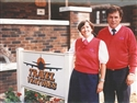 Owners Lorna & Larry Hundt at the Schneider Avenue office - 1990